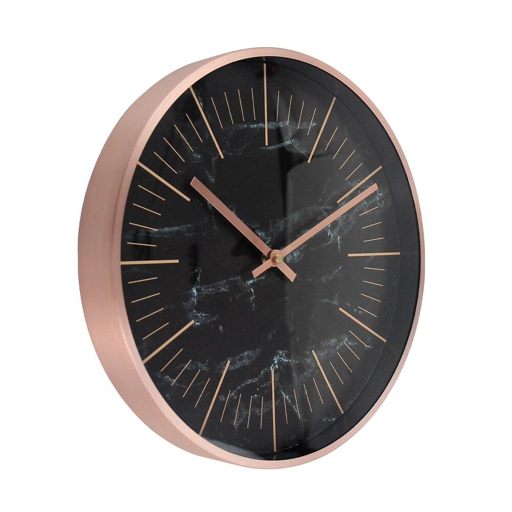 Silent Clock Modern Design Quartz Metal Wall Clock Designer Wandklok Watches Quiet Horloge mural in Wall Clocks from Home Garden
