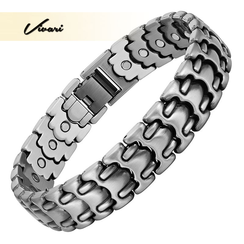 Vivari Fashion 26pcs Magnet Magnetic Bracelet For Men Health Silver Plated Wristband Bangle Men Jewelry Gift Chain Link цена