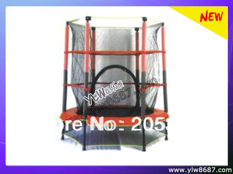 6 legs trampoline with safety net/kids jumping trampoline bed,exercise trampoline,house trampoline bed for children