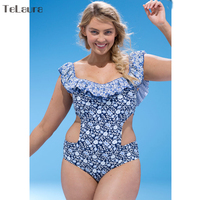 2017 Swimwear Women One Piece Swimsuit Push Up Monokini Thong Cut Off Plus Size Swimwear Beachwear