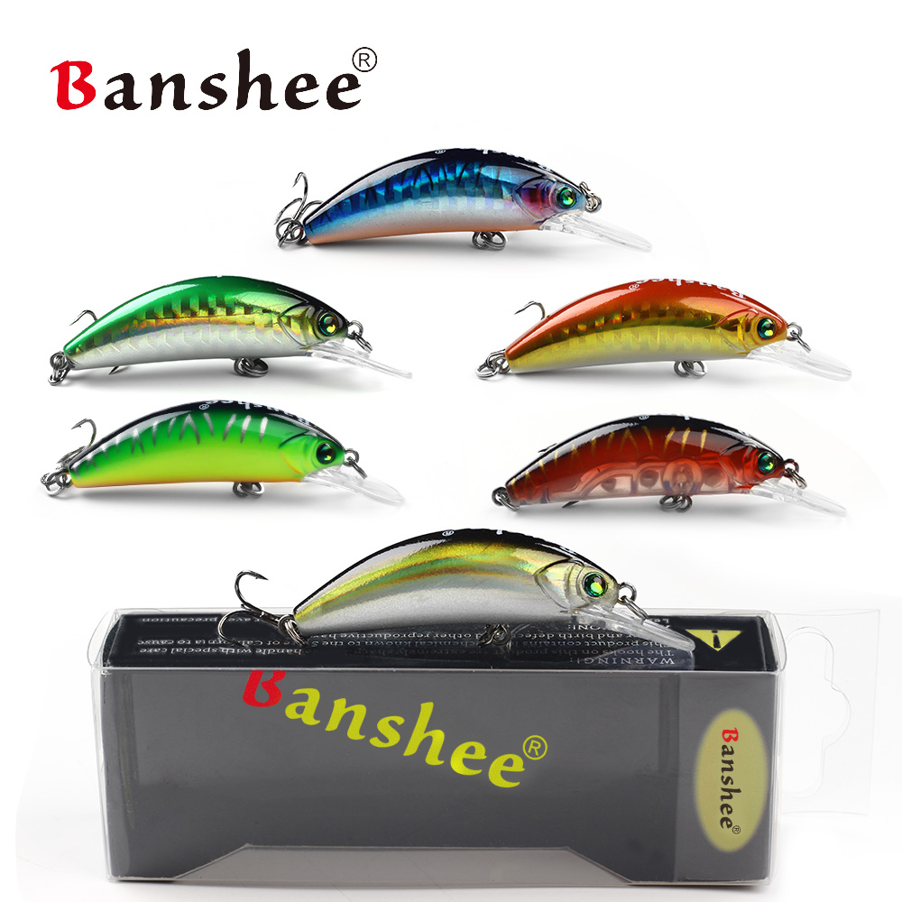 Banshee 54mm 4.7g Crankbaits Fishing Wobbler For Pike Bait Mini Crankbait Floating Minnow Fishing Lure Bass Hard Bait Artificial