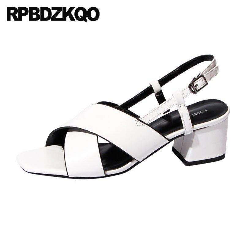 Elegante Blanco Correa Tinto blanco 2018 Alto Zapatillas De Tacón Slingback vino Coreano Zapatos Verano Sandalias Cuadrado Mujer Grueso Fornido Diseñador Borgoña Negro vpqfvw