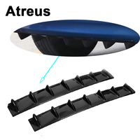 Atreus Car Rear Bumper Exhaust Pipe Chassis Shark 7 Wings Spoiler For Mitsubishi ASX Suzuki Subaru Acura Jeep Fiat 500 Hyundai