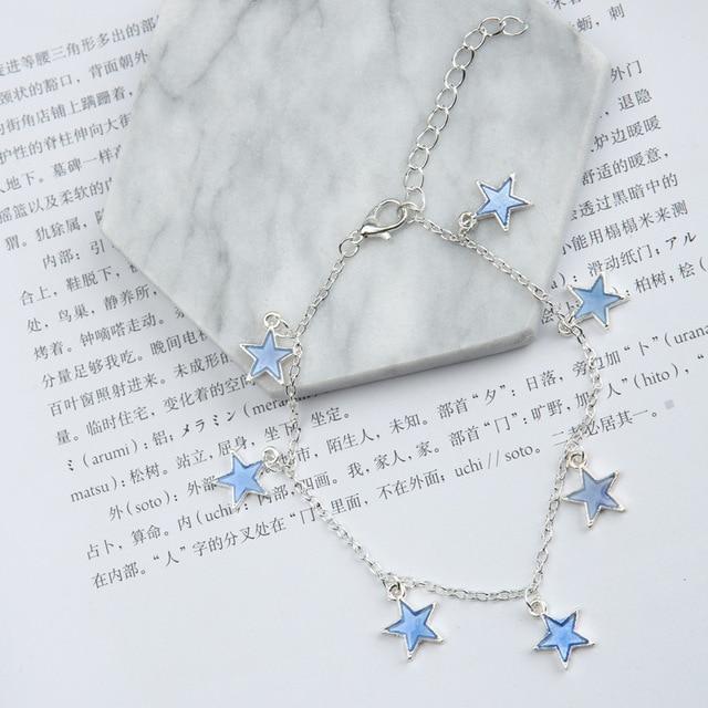 Luminous Beach Wind Blue Pentagonal Star Tassel Ankle 2