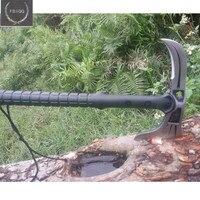 Шлифовальный открытый Томагавк топор для выживания Тактический Многофункциональный топор для кемпинга огнеупорный ручной инструмент ста...