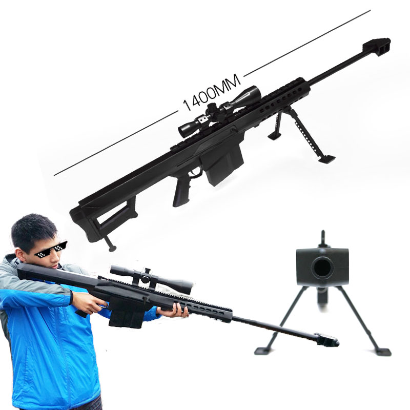 все цены на 1:1 3D Paper Model 1400mm Barrett Building Block Kits Cosplay Weapon Educational Toys Gun Handicrafts with Instruction Book