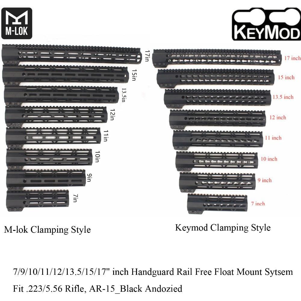 Aplus 7 9 10 11 12 13 5 15 17 inch Keymod M lok Clamping Style