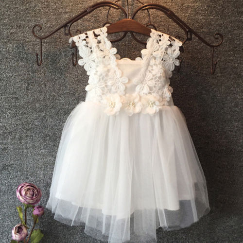 Baby flower girl dress Princess Lace Tulle Tutu Backless Gown Formal Party Dress 2016 new kids baby girl princess flower tutu dress party formal lace 2 6y