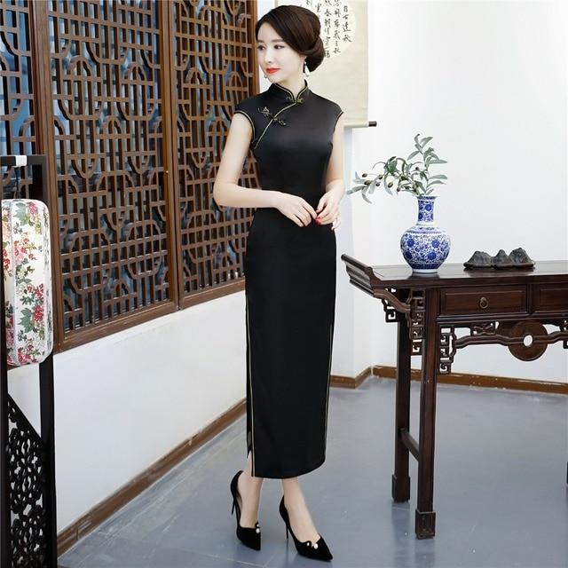 شنغهاي قصة الصينية تشيباو شيونغسام مثير فساتين السهرة الطويلة ثوب الرجعية اللباس للمرأة