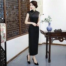 Shanghai Verhaal Chinese qipao Sexy Cheongsam jurken Lange Avondjurk retro jurk voor vrouwen
