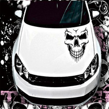 59*53cm Car-covers Accessories Reflective Waterproof Skull Auto Sticker Personality Car Decorative Stickers for ford focus 2