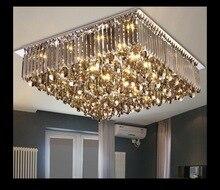 New Arrival Kryształową Lampę Sufitową DOPROWADZIŁA Nowoczesne Kwadratowe i Okrągłe Kryształowy Żyrandol Równo Zamontować Oświetlenie dla Biura Pokoju Hotelowym