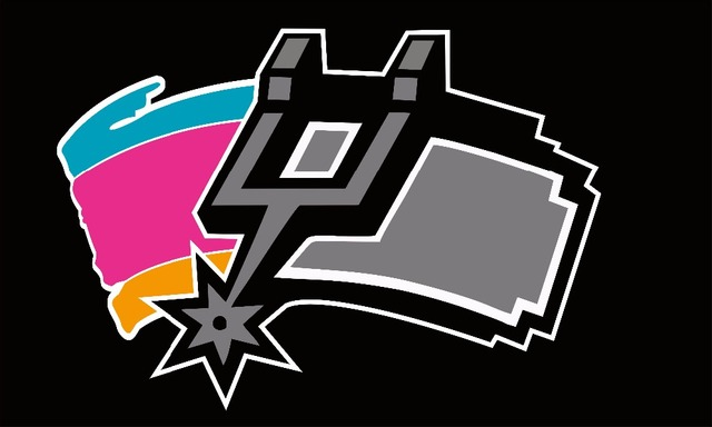 The SAN Antonio Spurs Flag With Stripes And Logo Number Feet X Of