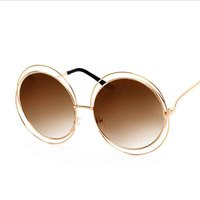 2017 Retro Round Women Sunglasses Mirror Fashion Brand Designer Vintage Ladies Sun Glasses Women Glasses Oculos De Sol Female