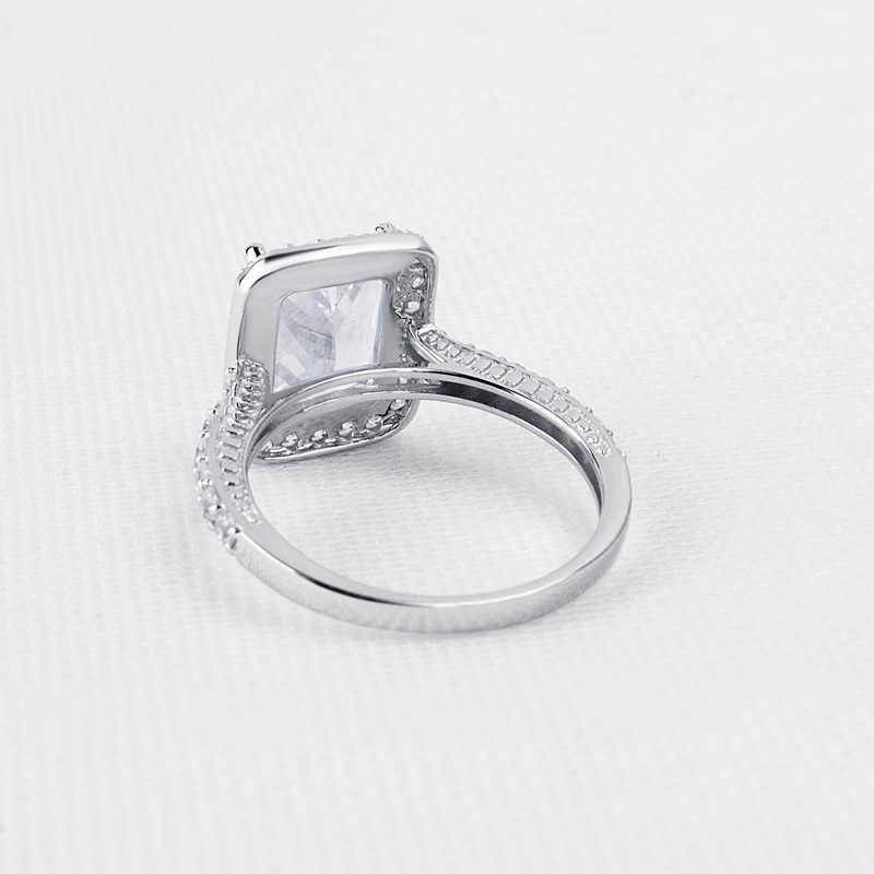 QYI 925 เงินสเตอร์ลิง 3 ct แหวนหรูหราเครื่องประดับหมั้นผู้หญิง Sona จำลองเพชรแหวนของขวัญ