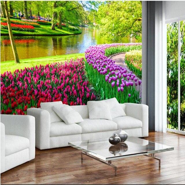 Wandbilder natur  Benutzerdefinierte 3D Wandbild Tapete 3D Wandbilder Natur ...