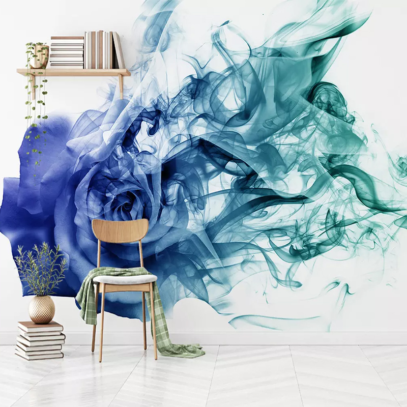 Custom Any Size Mural Wallpaper 3D Nordic Abstract Smoke