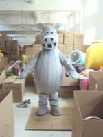 Gray Hippopotamus Mascot Costume For Adults Christmas Halloween Outfit Fancy Dress Suit Free Shipping Drop Shipping 2019New