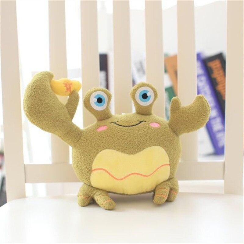 18 см Одна деталь кукла Маленький милый Fortune Краб Brinquedos Юбилей акция подарок на день рождения плюшевые крабы дети Игрушечные лошадки 5 цветов