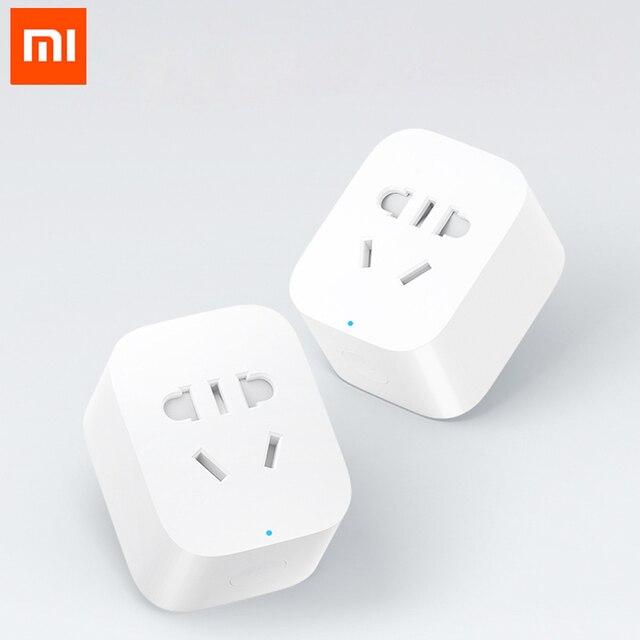 100% oryginalny inteligentne gniazdo Xiaomi wtyczka podstawowe WiFi bezprzewodowy pilot zdalnego adapter gniazda, aby włączyć i wyłączyć zasilanie z telefonu