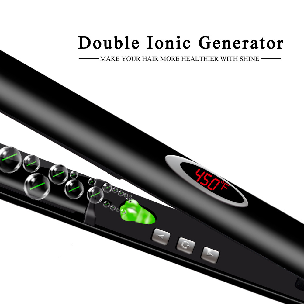 Madami Infrared Ions Ceramic Floating Plates Hair Straightener With LCD Display 110V-220V Dual Voltage Multi-function Flat Iron (7)