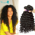 Brazilian Curly Virgin Hair 3 Bundle Deals Deep Wave Human Hair Extensions Unprocessed Real 7A Grade Brazilian Curly Virgin Hair
