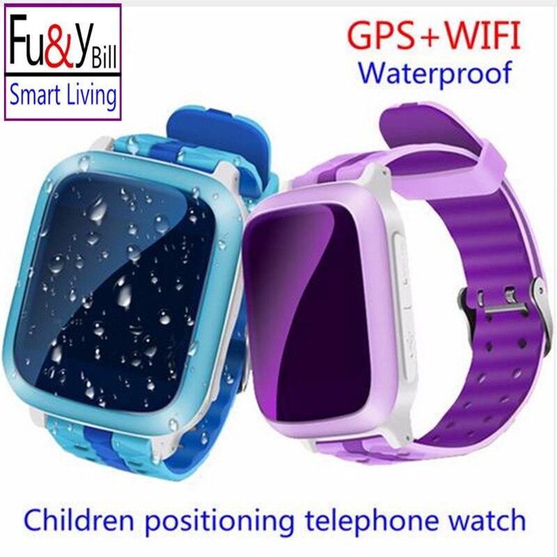 imágenes para Teléfono inteligente GPS Reloj Niños Kid Reloj DS18 GSM GPS WiFi Localizador Rastreador Anti-perdida Smartwatch Niño PK Q80 Q90 V7K Q50