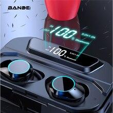 BANDE 3300 мАч Зарядное устройство TWS Bluetooth 5,0 наушники в ухо беспроводные наушники стерео Бас звук беспроводные Bluetooth наушники
