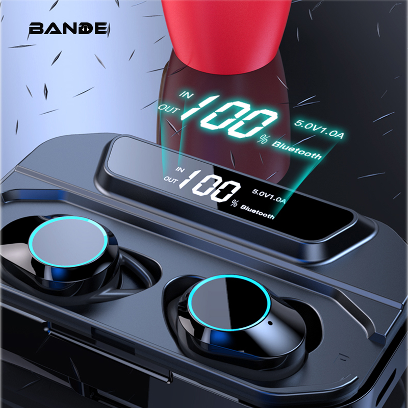 BANDE 3300mAh Charge Box TWS Bluetooth 5.0 Earbuds In Ear Wireless Earbuds Stereo Bass Sound  Wireless Bluetooth Earphones-in Bluetooth Earphones & Headphones from Consumer Electronics
