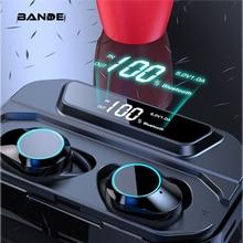 Bande 3300 mah 충전 박스 tws bluetooth 5.0 이어 버드 이어폰 형 무선 이어 버드 스테레오베이스 사운드 무선 블루투스 이어폰