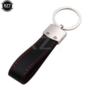 new 1PCS Car Logo Leather Keyring Key Chain Rings Key Holder for Audi Sline S Line A3 A4 A6 A7 A8 B6 S3 S4 S5 RS Q5 HOT SALE(China)