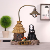 Japanese Style Night Light No Face Man Resin Crafts Study Lamp For Kids Gift Home Decoration