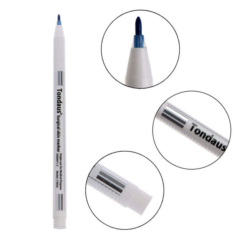 US $0 75 6% OFF|Top Selling Tattoo accesories Surgical Skin Marker Pen  Scribe Tool for Tattoo Piercing Permanent Makeup-in Marker Pens from Office  &