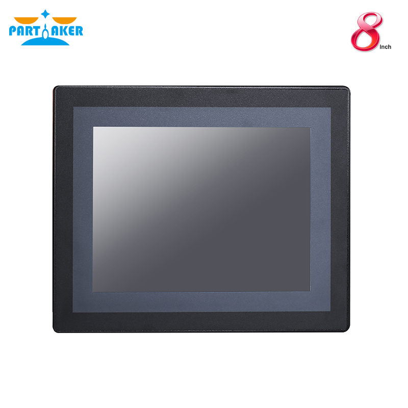 8 Inch LED IP65 Waterproof Industrial Touch Panel PC Resistive Touch Screen Intel J1900 Partaker Z18 4G RAM 64G SSD