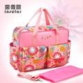 Moda Multifuncionales Bolsas de Pañales Nappy Mummy Bag Bolso de Hombro Messenger Bag Bolso Cochecito Mamás 65z