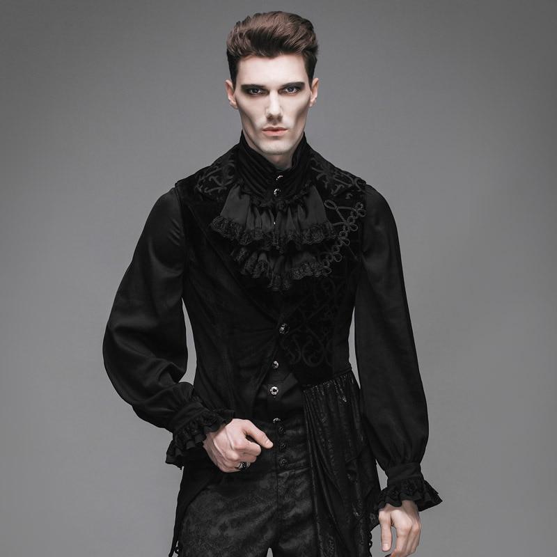 Devil Fashion Steampunk Asymmetrische Kleid Weste Mäntel für - Herrenbekleidung