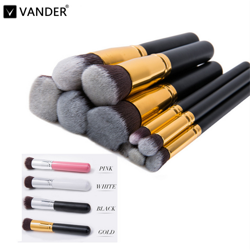 10 Pcs Superior Professional Set Make Up Tools Cosmetics Makeup Brush Powder Foundation Kabuki Blush Woman's Toiletry Beauty Kit 1pc professional makeup brush flawless blush powder pinceis brush rose gold metal large kabuki make up brush gub
