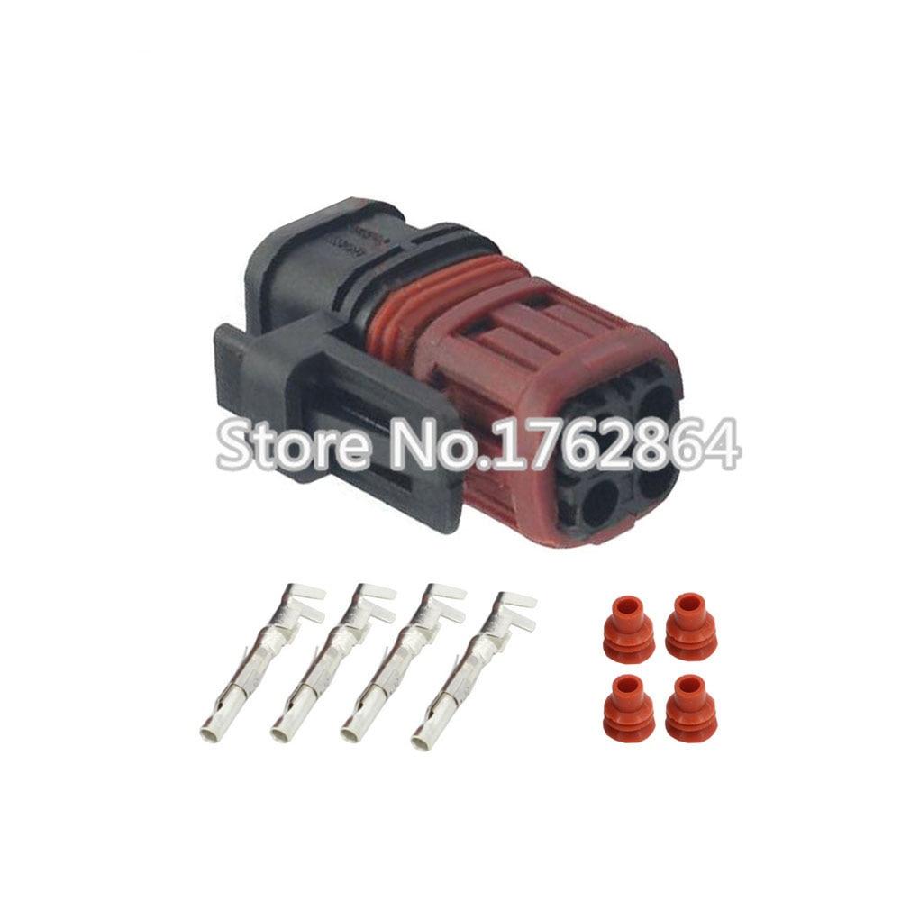 10PCS 4 pin waterproof automotive connectors with terminal block connector DJ3042-1.5-21