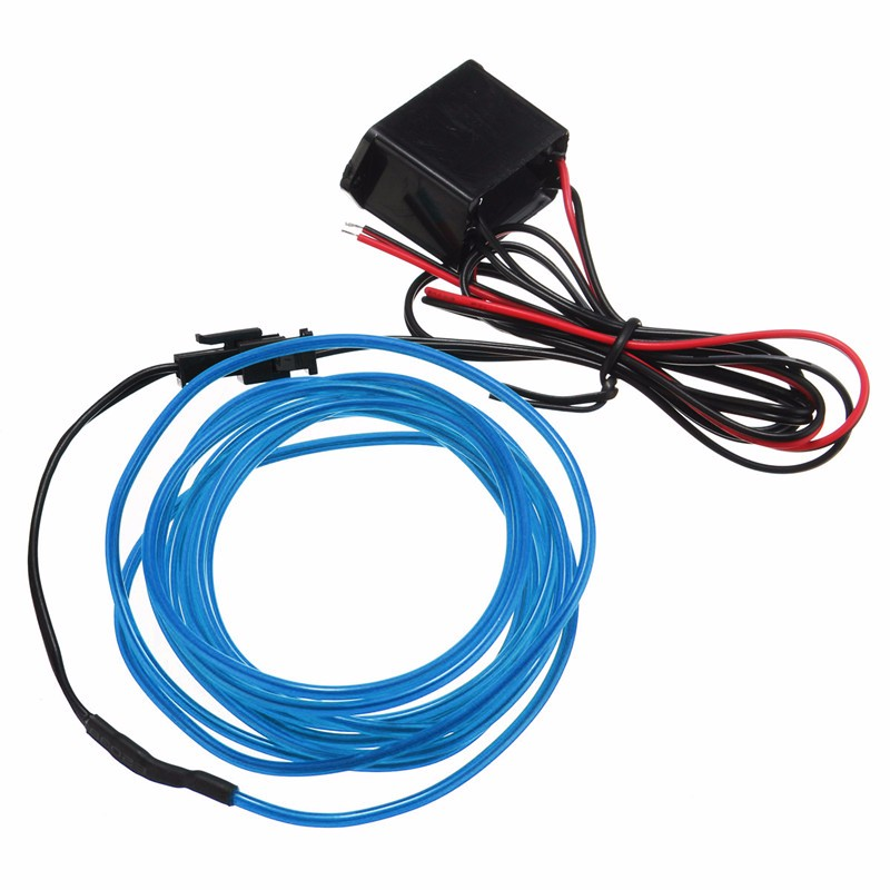 Best Promotion 2M 10 Colors Flexible EL Wire Flash Neon Glow Light With 12V Controller 10 Colors
