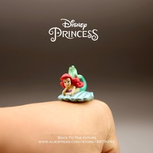 Disney Mermaid Princess Cartoon 2cm mini doll Action Figure Anime Mini Collection Figurine Toy model for children(China)