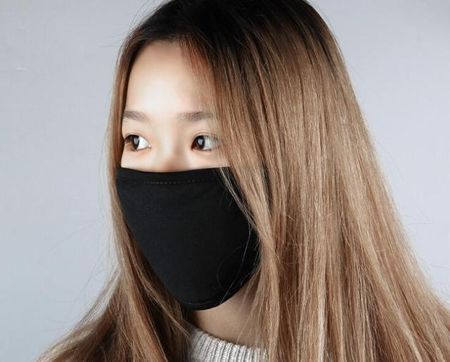 2pc Mouth Mask Cotton PM2.5 Anti Haze Black Dust Mask Nose Filter Windproof Face Muffle Bacteria Flu Fabric Cloth Respirator M40 3