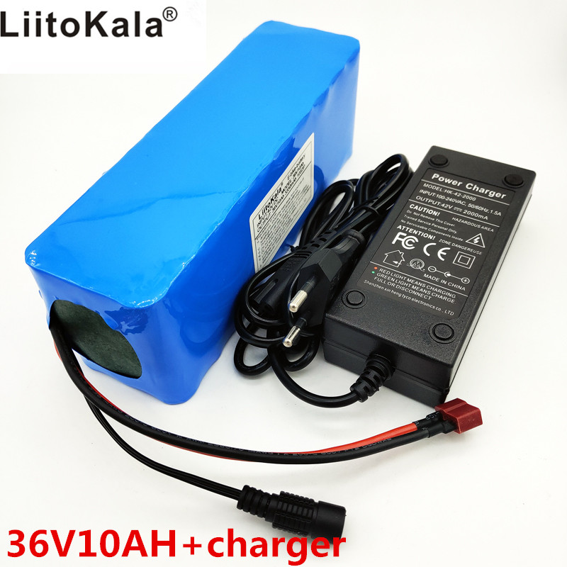 LiitoKala 36 v <font><b>10Ah</b></font> 10S3P <font><b>18650</b></font> Rechargeable Battery, Modified Motorcycle, Electric Vehicle Battery Charger li-lon + <font><b>36V</b></font> 2A char image