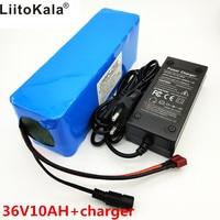LiitoKala 36 v 10Ah 10S3P 18650 Rechargeable Battery, Modified Motorcycle, Electric Vehicle Battery Charger li lon + 36V 2A char