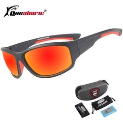 QUESHARK UV400 Men Polarized Fishing Sunglasses Fisherman Camping Hiking Ski Goggles Bike Cycling Glasses Sport Fishing Eyewear