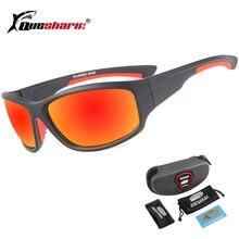 QUESHARK UV400 Для мужчин поляризованных Рыбная ловля солнцезащитные очки рыбак Отдых Пеший Туризм Лыжные очки велосипед велосипедные очки спортивные рыболовные очки