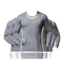 180202/Male Tight clothes 100% cotton sweater long/separate top V-neck tight-fitting thin thermal underwear