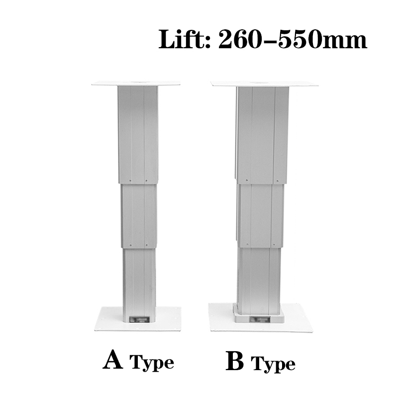 Electric type Tatami lift electric lift table Max 65kg lift platform Lift 260 550mm for automatic adjustment height