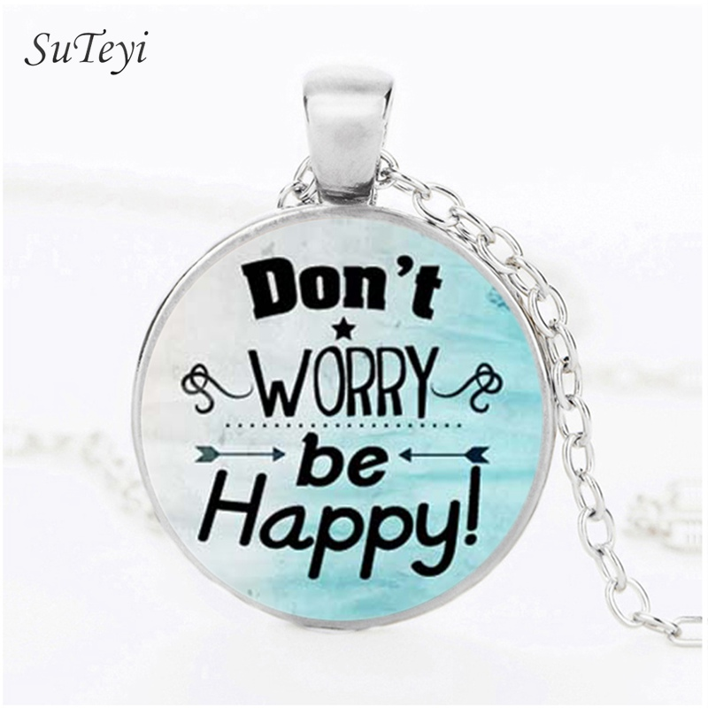 SUTEYI Fashion Motivational Necklace Crystal Quote Word Letter Pattern Pendant Long Nacklaces For Women Art Jewelry Bijoux Femme ...