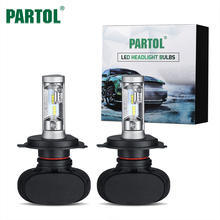 Partol автомобиля светодиодный фар комплект H4 H7 HB3 9005 HB4 9006 H11 H13 светодиодный лампы CSP 50 Вт 8000lm 6500 К светодиодный светильник авто фары 12 В 24 В светодиодный