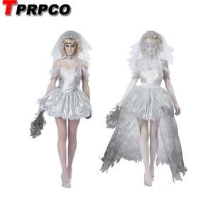 Image 1 - TPRPCO Women Vampire Zombie Dress Decadent Dark Ghost Bride Styling sexy Costumes Halloween costumes Cosplay for women NL147